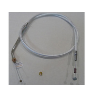 """Magnum Shielding MS-34046 Sterling Chromite II Idle Cable CL=36"""" Elbow=45o TL=5-1/4"""" Thread for Sportster 88-95"""