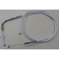 """Magnum Shielding MS-34254 Sterling Chromite II Idle Cable CL=34-3/4"""" Elbow=90o TL=4-3/4"""" Smooth for Big Twin 96-Up"""