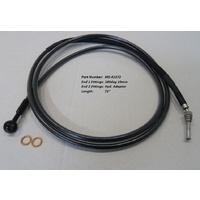 "Magnum Shielding MS-41472 Black Pearl Hydraulic Clutch Line 72"" x 10mm x 180Deg FLH'13up & all CVO'13up Models"