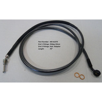 "Magnum Shielding MS-41570 Black Pearl Hydraulic Clutch Line 70"" x 10mm x 35Deg FLH CVO'13up & FLH'14 w/Hyd Clutch"