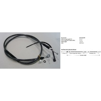 "Magnum Shielding MS-422510HE Black Pearl Clutch Cable CL=65"" BCL=20-3/4"" TL=2-13/16"" XL'04up"