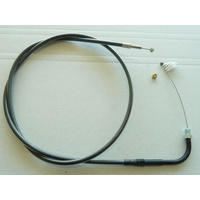 """Magnum Shielding MS-43112 Black Pearl Throttle Cable CL=41-1/2"""" Elbow=90o TL=5"""" Thread Big Twin'90-95"""