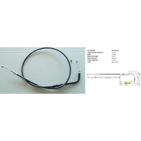 """Magnum Shielding MS-433310 Black Pearl Throttle Cable CL=37-1/2"""" Elbow=70o TL=3-11/16"""" Smooth V-Rod'02up"""