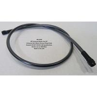 "Magnum Shielding MS-4534 Black Pearl Universal Brake Line 34"" w/ AN-3 Fittings"