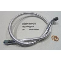 "Magnum Shielding MS-AS37115 Sterling Chromite 15"" Upper Front Brake Line w/10mm x 35 Degree Banjo"