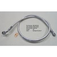 "Magnum Shielding MS-AS37128 Sterling Chromite II ABS Designer Series Upper Brake Line 28"" x 10mm x 35Deg"