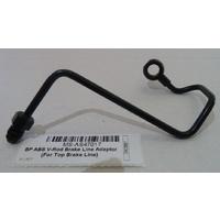 Magnum Shielding MS-AS47017 Black Pearl ABS Pump to Top Brake Line Adapter J-Hook Black for V-Rod 08-17