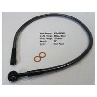 "Magnum Shielding MS-AS47623 Black Pearl 23"" Upper Front Brake Line w/10mm x 180 Degree Banjo"