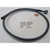 "Magnum Shielding MS-AS47738 Black Pearl ABS Designer Series Upper Brake Line 38"" x 12mm x 180Deg"