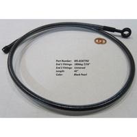 "Magnum Shielding MS-AS47742 Black Pearl ABS Designer Series Upper Brake Line 42"" x 12mm x 180Deg"