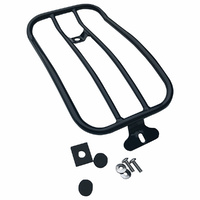 Motherwell MWL-118GB Gloss Black Solo Seat Luggage Rack for for Low Rider 18-Up