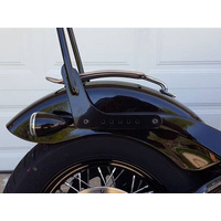 Motherwell MWL-136-18GB Gloss Black Solo Seat Luggage Rack for for Street Bob 18-Up