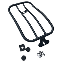 Motherwell MWL-151-018GB Gloss Black Solo Luggage Rack for Softail Slim 18-Up