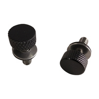 "Motherwell MWL-PC-4014GB-2 Low Profile Thumbscrew Black (Pair) for most Models '96up 1/4""-20"