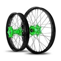 DNA Rear only Wheel 17 x 4.25 - Kawasaki KX125/250KXF250/450 (06-11) - Black/Green
