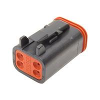 NAMZ Custom Cycle Products NMZ-DP-4B 4-Wire Deutsch Plug w/Wedgelock Black