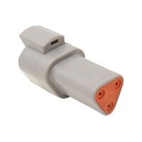 NAMZ Custom Cycle Products NMZ-DR-3G 3-Wire Deutsch Receptacle w/Wedgelock Grey