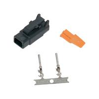 Namz NMZ-MDP-2B Deutsch DTM 2-Position Black Plug w/2 Stamped Terminals & Wedgel
