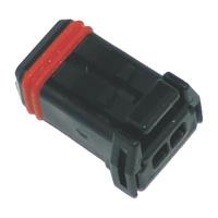 NAMZ Custom Cycle Products NMZ-NJ-2S51 MX-1900 2-Position Black Socket Housing (HD 72906-11)