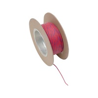 "Namz NMZ-NWR-26-100 18-Gauge Wire Red w/Blue Stripe 100"" Foot Roll"