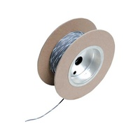 "Namz NMZ-NWR-89-100 18-Gauge Wire Grey w/White Stripe 100"" Foot Roll"