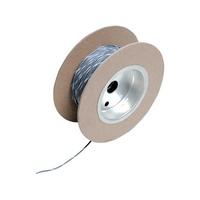 """Namz NMZ-NWR-89-100 18-Gauge Wire Grey w/White Stripe 100"""" Foot Roll"""