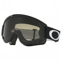 Oakley L-Frame MX Goggles Sand Jet Black w/Dark Grey & Clear Lens