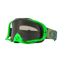 Oakley Crowbar MX Goggles Shockwave Green/Grey w/Dark Grey Lens
