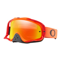 Oakley Crowbar MX Goggles Red/Orange w/Fire Iridium & Clear Lens