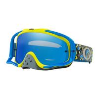 Oakley Crowbar MX Goggles Camo Vine Night Blue/Green w/Black Ice Iridium & Clear Lens