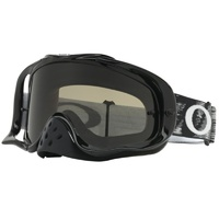 Oakley Crowbar MX Goggles Sand Jet Black w/Dark Grey & Clear Lens