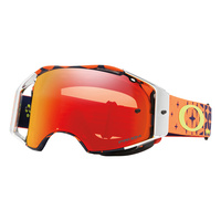 Oakley Airbrake MX Goggles Troy Lee Designs Series Megaburst Orange/Navy w/Prizm Torch Iridium Lens