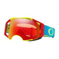Oakley Airbrake MX Goggles Red/Green/Blue w/Prizm Torch Iridium Lens