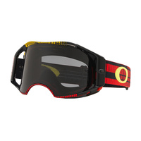 Oakley Airbrake MX Goggles Frequency Red/Yellow w/Dark Grey Lens