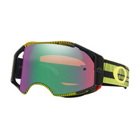 Oakley Airbrake MX Goggles Frequency Green/Yellow w/Prizm Jade Iridium Lens