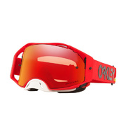 Oakley Airbrake MX Goggles Heritage Stripe Red w/Prizm Torch Iridium Lens