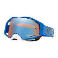 Oakley Airbrake MX Goggles Heritage Stripe Blue w/Prizm Sapphire Iridium Lens