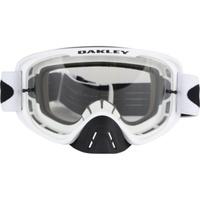 Oakley O-Frame 2.0 MX Goggles Matte White w/Dark Grey & Clear Lens