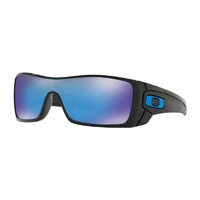 Oakley Batwolf Sunglasses Polished Black w/Prizm Sapphire Lens