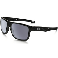Oakley Crossrange Sunglasses Polished Black w/Prizm Grey Lens