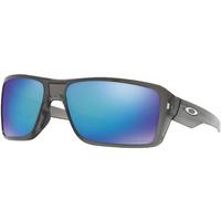 Oakley Double Edge Sunglasses Grey Smoke w/Prizm Sapphire Polarized Lens