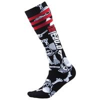 Oneal Pro MX Socks Crossbones Black/White