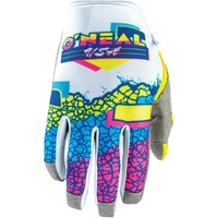 Oneal 2020 Mayhem Gloves Crackle 91 Yellow/White/Blue
