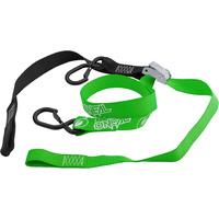"""Oneal Deluxe Tiedown 1 1/2"""" Inch w/Soft Loop & Secure Hook Black/Green"""