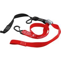 """Oneal Deluxe Tiedown 1 1/2"""" Inch w/Soft Loop & Secure Hook Black/Red"""
