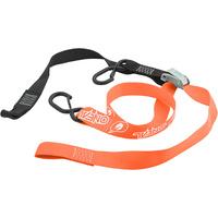 """Oneal Deluxe Tiedown 1 1/2"""" Inch w/Soft Loop & Secure Hook Black/Orange"""