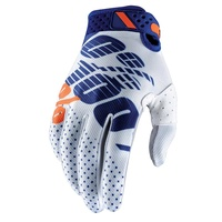 100% Ridefit Gloves White/Navy