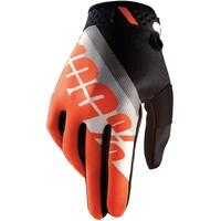 100% Ridefit Gloves Slant Orange