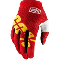 100% iTrack Gloves Fire Red/Yellow