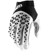 100% Airmatic Gloves Steel Black/White